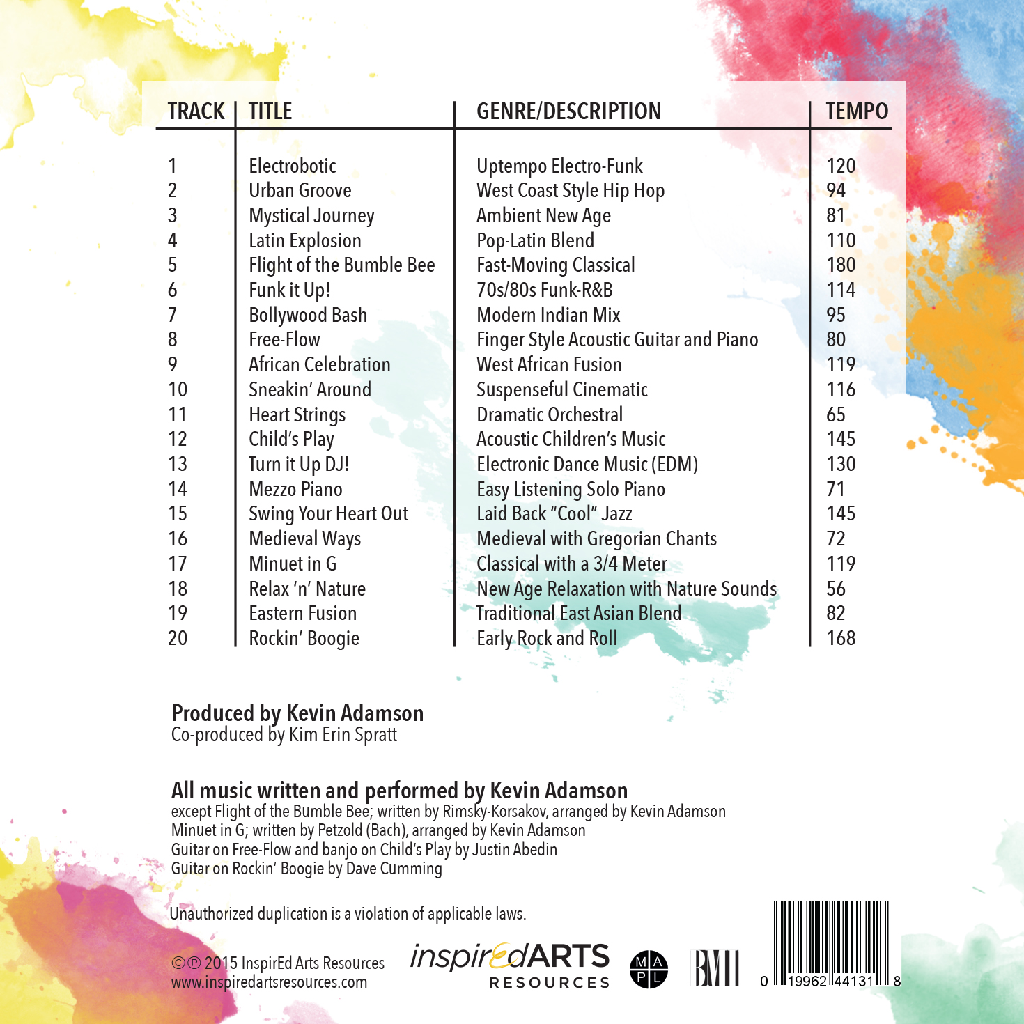 Music for Inspiration in Motion CD
